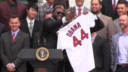 La selfie di David Ortiz con Obama