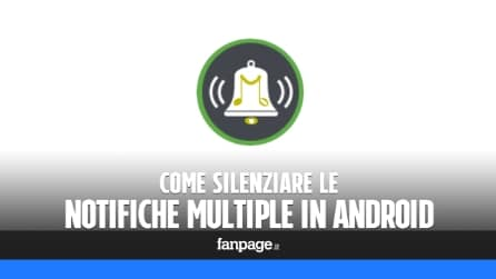 Come silenziare le notifiche multiple Android