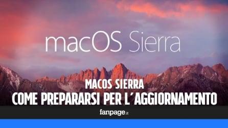 Mac OS Sierra: come preparare il computer all'aggiornamento