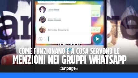 WhatsApp: come funzionano le menzioni nei gruppi