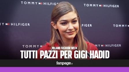 Gigi Hadid a Milano: fan in delirio bloccano il centro città
