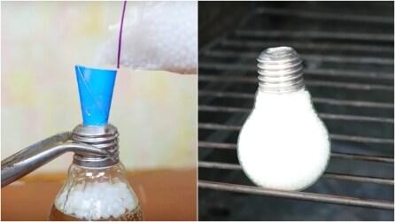 Riempie la lampadina, poi la mette in forno: un'idea perfetta per la casa