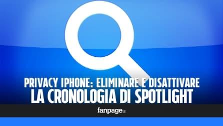 Privacy iOS: come eliminare la cronologia delle ricerche in Spotlight iPhone