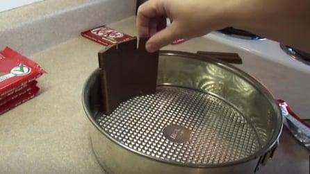 Dispone i Kit-Kat in questo modo nella teglia: la ricetta da leccarsi i baffi