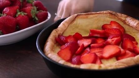 """Come fare la torta alle fragole """"pancake"""""""