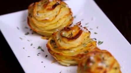 Come preparare patate al forno a forma di rosa