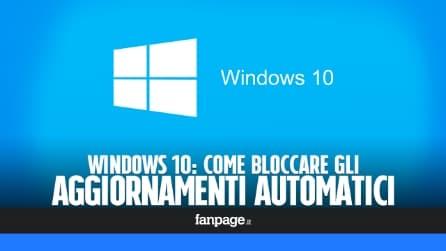 Disabilitare l'aggiornamento automatico di Windows 10