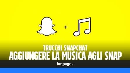 Trucchi Snapchat: come aggiungere musica agli snap