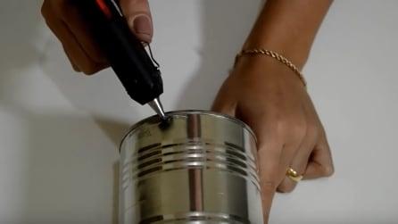 L'idea originale per riciclare un barattolo di latta