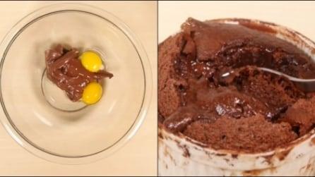 Come preparare il tortino dal cuore morbido alla nutella