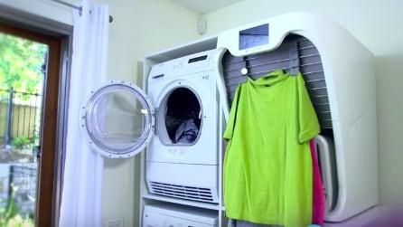 Arriva la macchina che stira e piega il bucato in un minuto