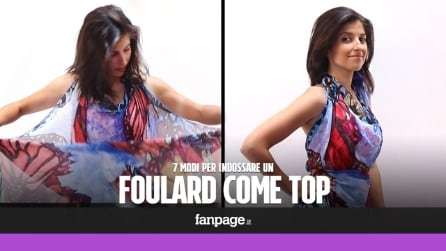 7 modi per indossare un foulard come top