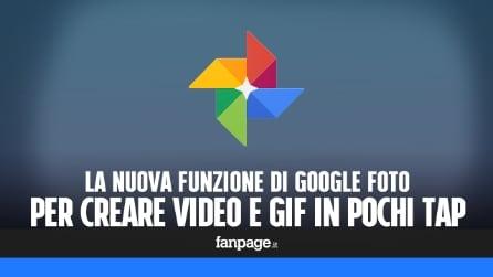 La nuova funzione di Google Foto per creare video e GIF in pochissimi tap