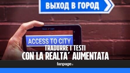 Tradurre un testo con la fotocamera dello smartphone e la realtà aumentata
