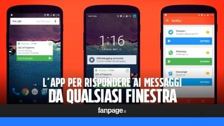Rispondere ai messaggi WhatsApp, Snapchat, Telegram etc. da qualsiasi finestra