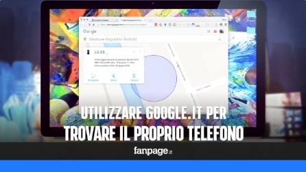 Utilizzare il motore di ricerca di Google per trovare il telefono