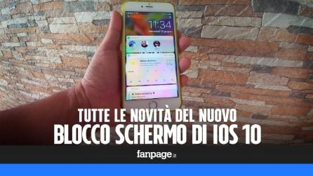 iOS 10, rivoluzione blocco schermo: più intelligente, con Siri, widgets e 3D Touch