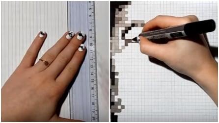 Colora dei quadratini con sfumature di nero e grigio: il risultato vi lascerà increduli