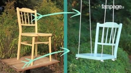 Come riciclare una vecchia sedia in legno e costruire un'originale altalena