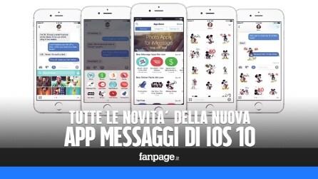 La nuova app Messaggi di iOS 10: tutte le novità in attesa dell'arrivo di iMessage per Android