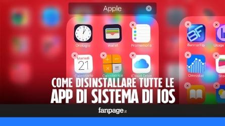 Disinstallare Watch, Borsa e tutte le altre app di sistema in iPhone e iPad