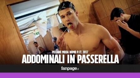 Addominali in passerella: i modelli più sexy della Milano fashion Week
