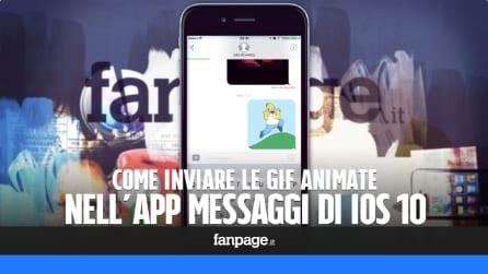 Come inviare le gif nella nuova app messaggi di iOS 10