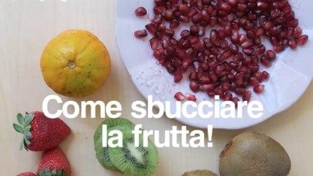Il modo giusto per sbucciare la frutta