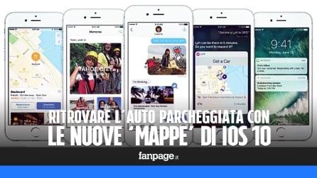 Ritrovare l'auto parcheggiata con il nuovo 'Mappe' di iOS 10