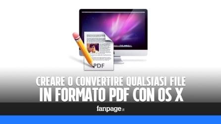 Come creare un PDF con il Mac senza installare alcuna app