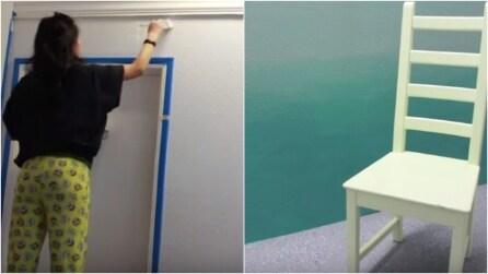 Come trasformare una parete bianca e realizzare un bellissimo effetto sfumato