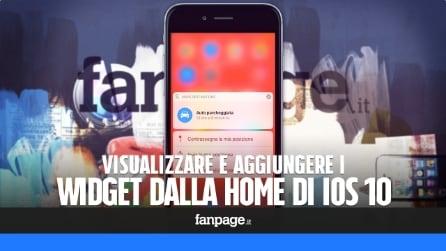 iOS 10: come visualizzare o attivare i widget direttamente dalla Home