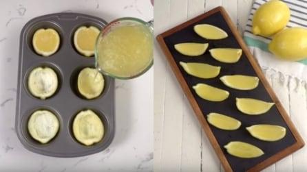 Mette il limone nel dispenser del ghiaccio: l'idea gustosa per rinfrescarsi in estate