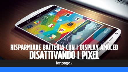 Risparmiare batteria negli smartphone con display AMOLED disattivando i pixel