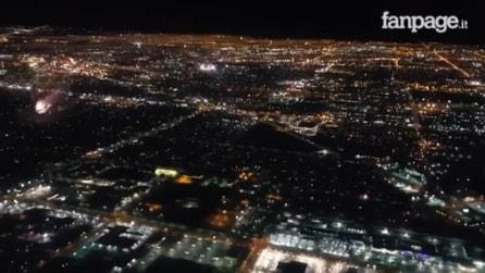 Las Vegas durante l'Independence Day: la città vista dall'alto