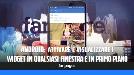 Come visualizzare i widget sempre in primo piano e in qualsiasi app Android