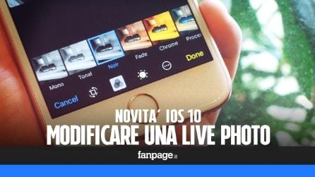 Come modificare le live photo in iOS 10