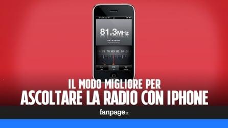 Ascoltare la radio su iPhone