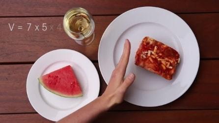 Il metodo per capire quanto cibo bisogna mangiare per non ingrassare