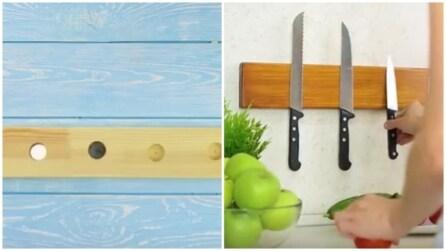 Come creare un portaposate con del legno e un magnete: il risultato è pazzesco