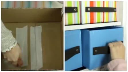 Prende un cartone e del nastro adesivo: l'idea perfetta per tenere sempre in ordine la vostra casa