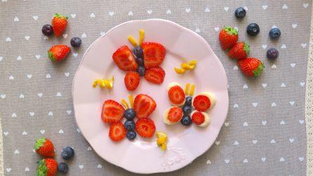 Come realizzare delle farfalle di frutta