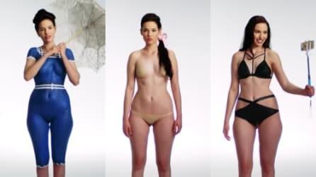 1916-2016: l'evoluzione del costume da bagno con il body paint