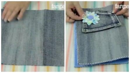 Taglia dei vecchi jeans e realizza qualcosa di utile per la scuola: il risultato vi piacerà