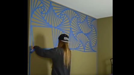 Come decorare la stanza da letto con il nastro adesivo