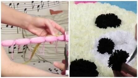 Come realizzare un tappeto fai da te utilizzando dei semplici pon pon