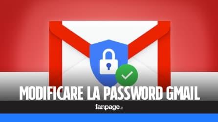 Come cambiare la password Gmail