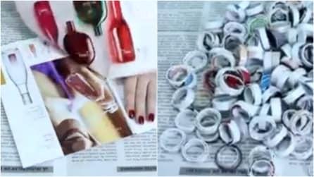 Strappa il foglio e crea degli anelli: 3 idee semplici e utili per la casa