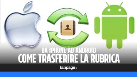 Copiare la rubrica da iPhone ad Android