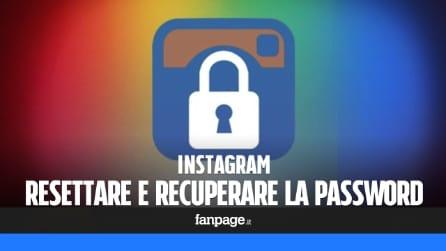 Recuperare o resettare la password Instagram